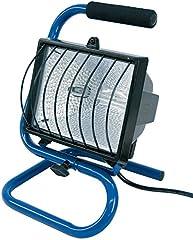 Chaise de combustible Halogène / lumière d'inondation Hallogen idéal comme projecteur de construction mobile (projecteur de 1,5m de longueur de câble, 400 watts) bleu