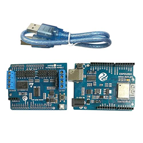 WiFi Robotic Controller Kit Servo Motor Driver Board DT-06 Serial WiFi HC-06 Bluetooth Module for Arduino NEW