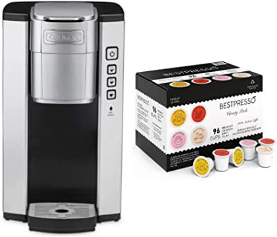 Cuisinart SS-5 Compact Single Serve Coffee Brewer with 96-Count Variety Pack Single Serve K-Cup Set Bundle (2 Items)