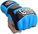 Combat Sports Pro Style Grappling MMA Gloves, Small, Electric Blue