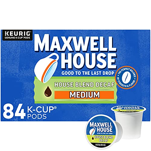 Maxwell House Decaf House Blend Medium Roast K-Cup Coffee Pods (84 ct., Box)