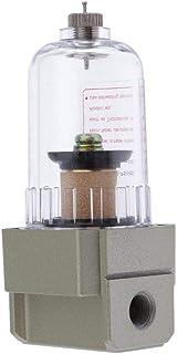 H HILABEE AF2000 01 Druckluft Wasserabscheider Druckminderer für Kompressor, 1/8 Zoll Luftregler Filter
