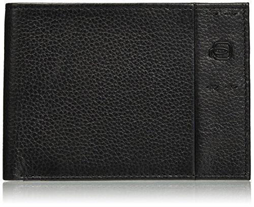 Piquadro , Unisex-Erwachsene portemonnaie, Schwarz - Schwarz (Nero N) - Größe: 2.5x9x12.5 cm (W x H x L)
