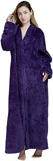 Mariscos con Cremallera de inviernoAlbornoz de Terciopelo camisón Hombres Mujeres Engrosamiento Pijamas Servicio de Franela a Domicilio, como Imagen, L