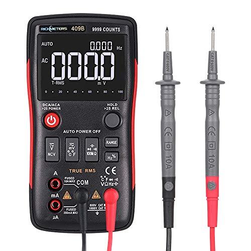 KKmoon Multimètre Numérique Portable Professionnel, Mesure de Tension AC/DC, Courant AC/DC, Résistance, Capacité Poche Test de Température Numérique Ohmmètre