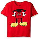 Disney Little Boys' Toddler Mickey Headless Group T-Shirt Toddler, Red, 4T