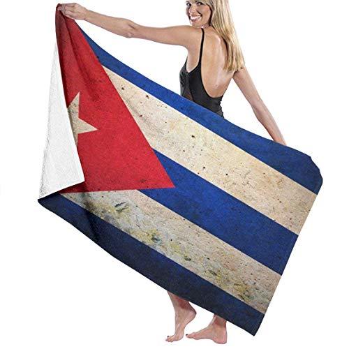 Toallas de baño Premium Paños de Lavado para el hogar, Hotel, SPA, Piscina - Toallas de Bandera Cubana Vintage, Ducha Ultra Suave y Toalla de baño Envoltura Extra Grande Ultra Absorbente para Mujer