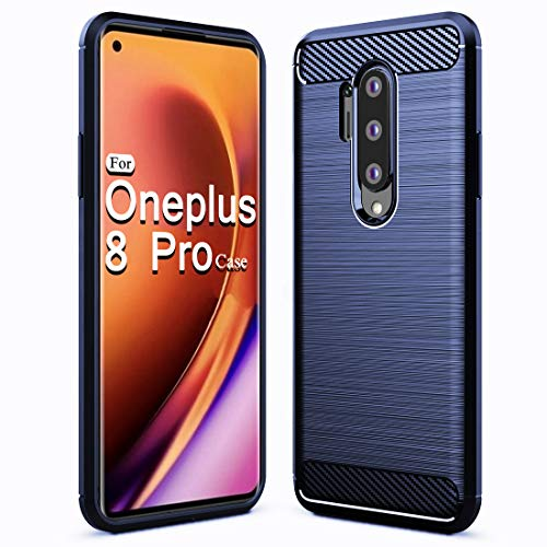 Sucnakp Oneplus 8 Pro Case 1+8 Pro Case TPU Shock Absorption Technology Raised Bezels Protective for Oneplus 8 Pro(TPU Blue)