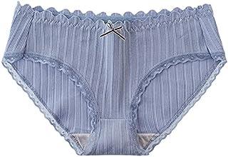 سراويل نسائية Fbnzmluqnk ، مقاس كبير للنساء ملابس داخلية منخفضة الخصر مخطط ملابس داخلية قطنية مريحة ملخصات ملابس داخلية بل...