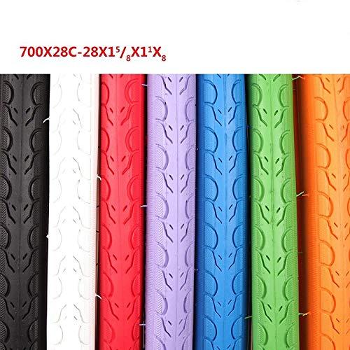 ZHYLing Neumático de la Bicicleta de Color 700 28 700 * 28C Neumáticos Neumáticos Bici del Camino 700C Pneu Bicicleta Ultraligero 675g Ciclismo Antideslizante (Color : Blue)
