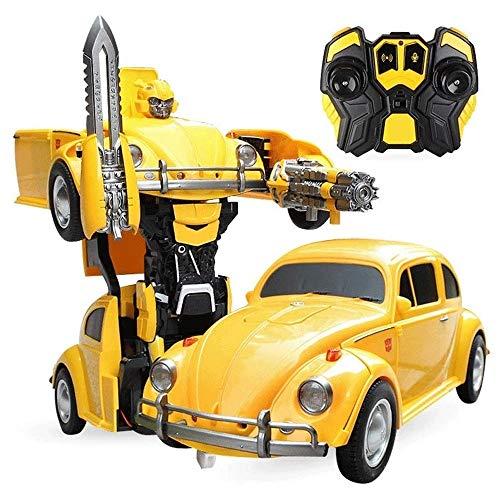 Buy Discount Woote 2.4GHZ Wireless Remote Control Car, Deformation Robot Toy Car Kids USB Charging M...