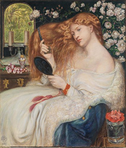 Gifts Delight Laminated 17x20 Poster: Books and Art Lady Lilith 1867. Dante Gabriel Rossetti