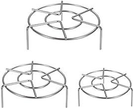 3 Sizes Trivet Rack Stand Stainless Steel, Set of 3 Heavy Duty Pressure Cooker Steam Rack, Metal Steaming Rack, Pot Pan Co...