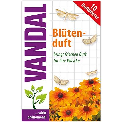 VANDAL Parfum de fleurs contre les mites - 10 feuilles parfumées