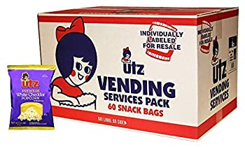 Utz Popcorn White Cheddar – Baked with Real Cheese Tasty Individual Snacks to Go Cholesterol Free Trans-Fat Free Gluten Free Snacks – 0.75 oz Bags  Pack of 60