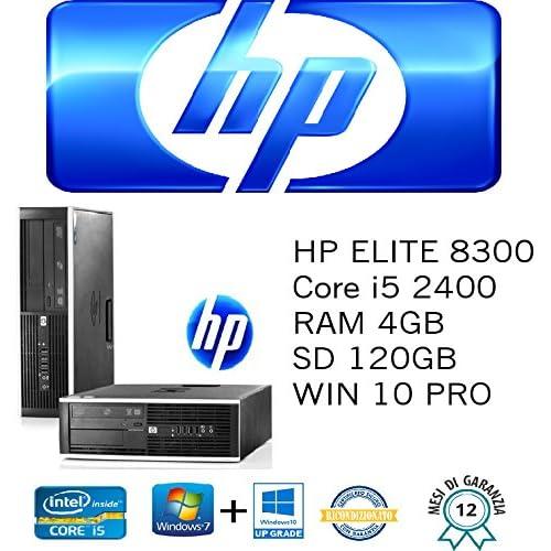 PC Unité HP Elite 8300SFF Intel Core i524003.10GHz/4GB/SSD 128Go/DVD/Windows 10Pro (Unité certificat)