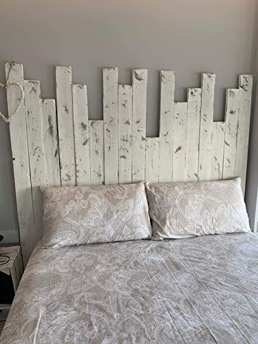 Cabecero Artesanal echo con madera de palet & pallet & Respaldo & Cabezal de pallets con letras para cama somier de palets
