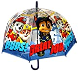 Paw Patrol Transparency Children Dome Umbrella,Pups Great Official Licensed