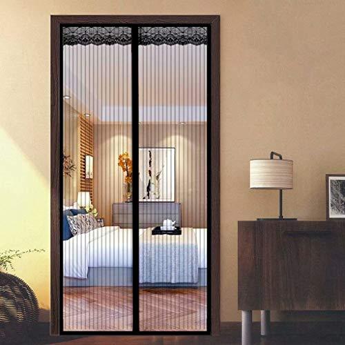 Aiyaoo Tür Fliegenschutz 120x230cm Hochwertiges Netz Automatisches Schließen Ohne Bohren (Nicht Kürzbar) Mehrere Größen für FliegengitterTür Tür Plissee - Schwarz