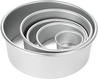 Raitron - Juego de moldes Redondos de aleación de Aluminio