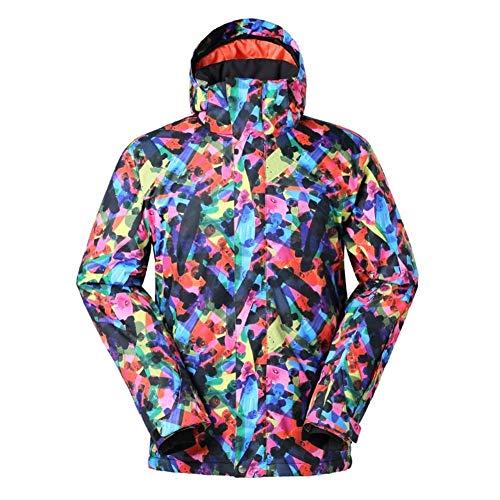YABAISHI Herren Ski-Jacke Winter-Einplatinen Und Doppelbrett Ski Snowboard-Jacke wasserdichter Druck Camping Schnee Jacke (Color, Size : XL)