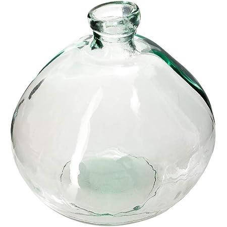 Matches21 Vase conique en verre d/écoratif haut rond 17 x 50 cm