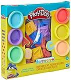 Play Doh E8532 Hasbro Conjunto Massinha Letras, 6 potes, Multicor