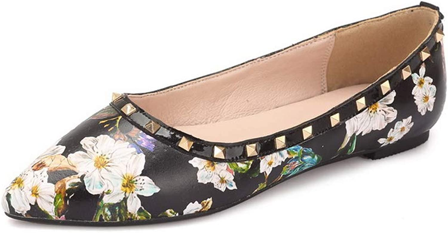AdeeSu Womens Embroidered Studded Printing Urethane Pumps shoes SDC06089