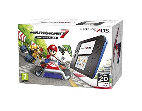 Nintendo Handheld Console - Black/Blue 2DS with Pre-installed Mario Kart 7 - [Edizione: Regno Unito]