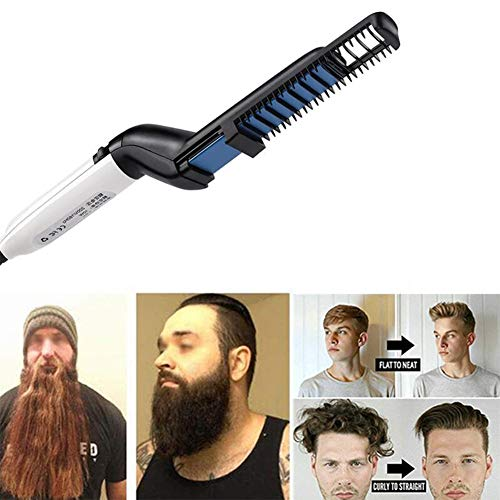 JFW-Hommes Rapide Barbe Lisseur Styler Peigne Multifonctionnel Cheveux Curling Curler Show Cap Outil Styling Accessoire