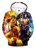 HUASON Jungen Mädchen Naruto 3D Hoodie Japanischer Anime Kapuzenpullover Uchiha Sasuke Uzumaki Kinder Langarm Sweatshirt(S)