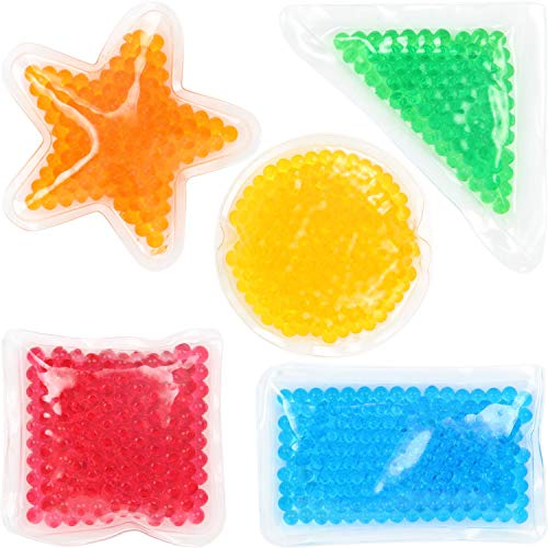 Yiran Sensory Beads Bean Bag Toys ,Colorful Anti Stress and Anxiety Hand Squishy Jellyball for Kids And Adults, Shapes Tactile Visual Educational Spongy Bead Squeeze Relief Gift for Fun (5pcs)