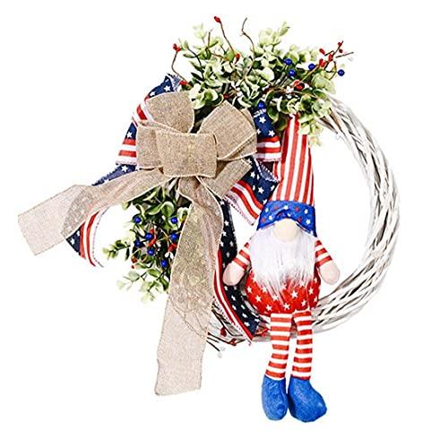 Yililay Día de la Independencia de la Guirnalda de la Guirnalda patrióticos GNOME Decoraciones Colgantes Garland Puerta Principal de Las Paredes Exteriores Sala Style1