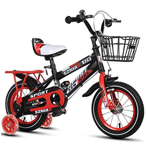 MUYU Kids Fiets met Training Wielen voor 3-12 Jaar Oude Meisjes, 12(14,16,18,20) Inch Kids Bike