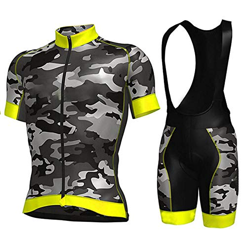 HXTSWGS Ciclismo para Hombre de Equipos Ciclismo Ropa,Pro Team Cycling Jersey Men Short Sleeve MTB Riding Bicycle Sports Clothing-A07_4XL