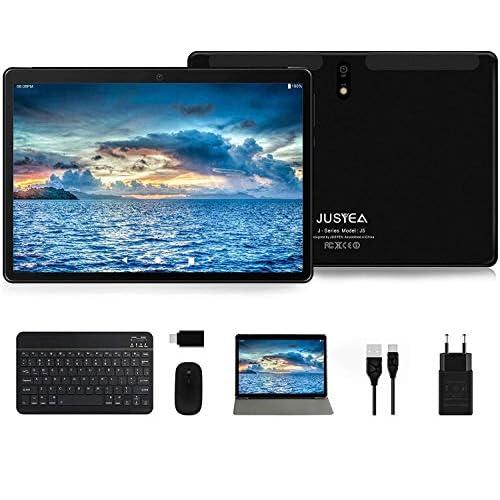 Tablet 10 Pollici Android 10.0 Tablets Ultra-Portatile- RAM 4GB | 64GB Espandibile(Certificazione GOOGLE GMS) -JUSYEA- 8000mAh Batteria - WIFI - Mouse | Tastiera e Altro - Nero