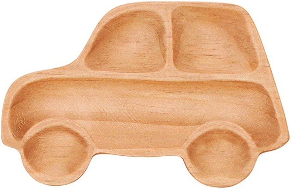 Time Concept Kids Petits Et Maman Wooden Car Jr Plate Eco Friendly Handcrafted Dinnerware