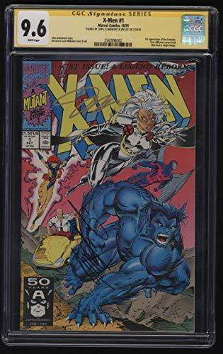 X-Men #1 CGC 9.6 W Pgs Signature Series SS Signed Chris Claremont Jim Lee 1991 1st Acolytes Marvel Comics