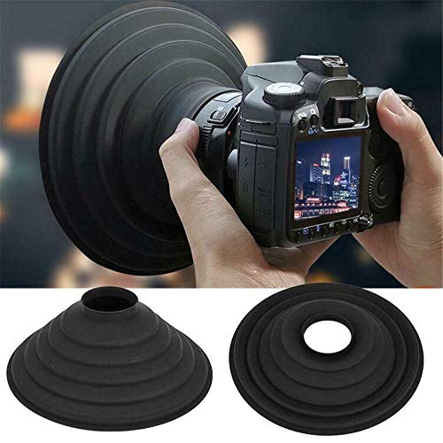 Anti-Reflective Glass Lens Hood Cover,Camera Lens Cover Hood Anti-Glass Camera Lens Cover, Portable Camera Lens Hood (Large)