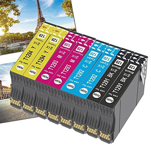 OGOUGUAN 8 T1295 - Cartuchos de tinta compatibles con Epson T1291 T1292 T1293 T1294 para Epson Workforce WF-3520 WF-7515 Stylus Stylus SX235W SX525WD SX535WD SX420W SX425W SX435W