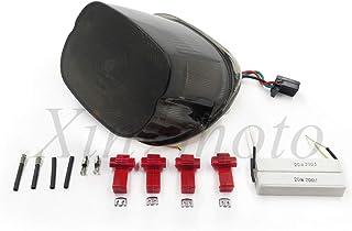 Chrome et fum/ée Moto clignotants lumi/ères visi/ères couvre-lentilles Fit pour Harley Sportster 883R Super Glide Dyna Super Glide Road King