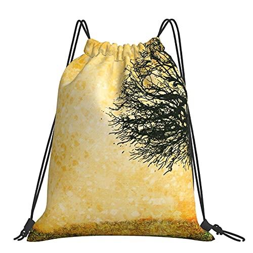 Bolsa de gimnasio Tree Art Mochila con cordón Bolsas deportivas Bolsa de playa para yoga Gimnasio Natación Viajes Playa