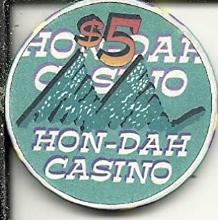 $5 hon-dah casino white mountain apache casino chip vintage