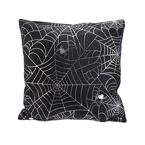 Vosarea Capa de almofada de teia de aranha para Halloween