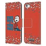Head Case Designs Licenciado Oficialmente Peanuts Charlie Brown Tu Voto es tu Voz Carcasa de Cuero Tipo Libro Compatible con Apple iPhone 5c