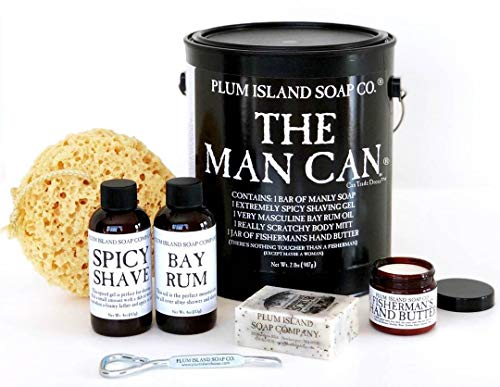 The Man Can All Natural Bath and Body Gift Set for Men