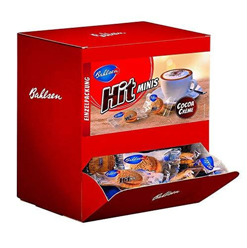 BAHLSEN Hit Minis 975 g- Thekenaufsteller mit ca. 150 Portionspackungen, Mini-Doppelkekse mit leckerer Kakaocremefüllung, ideal zum Kaffee, Schokokeks
