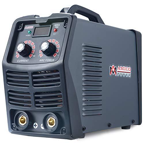 MMA-180, 180-Amp Stick ARC DC Inverter Welder, Digital Display LCD 110V & 230V Dual Voltage Welding Machine, Can Use All E6010 E6011 E6013 E7014 E7018 etc.