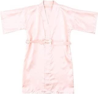 Surprise S Casual Solid Infant Children Girls Summer Robes Solid Silk Satin Kimono Robes Bathrobe Sleepwear Clothes