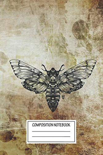 Notebook: Moth Wide Ruled , Journal for Writing, Size 6' x 9', 110 Pages